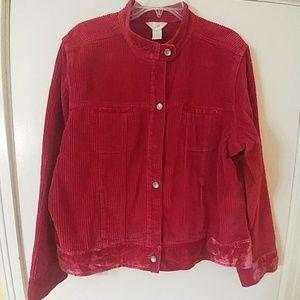 J. JILL Corduroy Red Jacket XL
